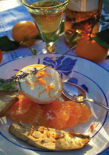 Semifreddo van sinaasappel met clementines