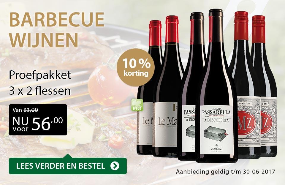 Proefpakket barbecue wijnen - goud/zwart