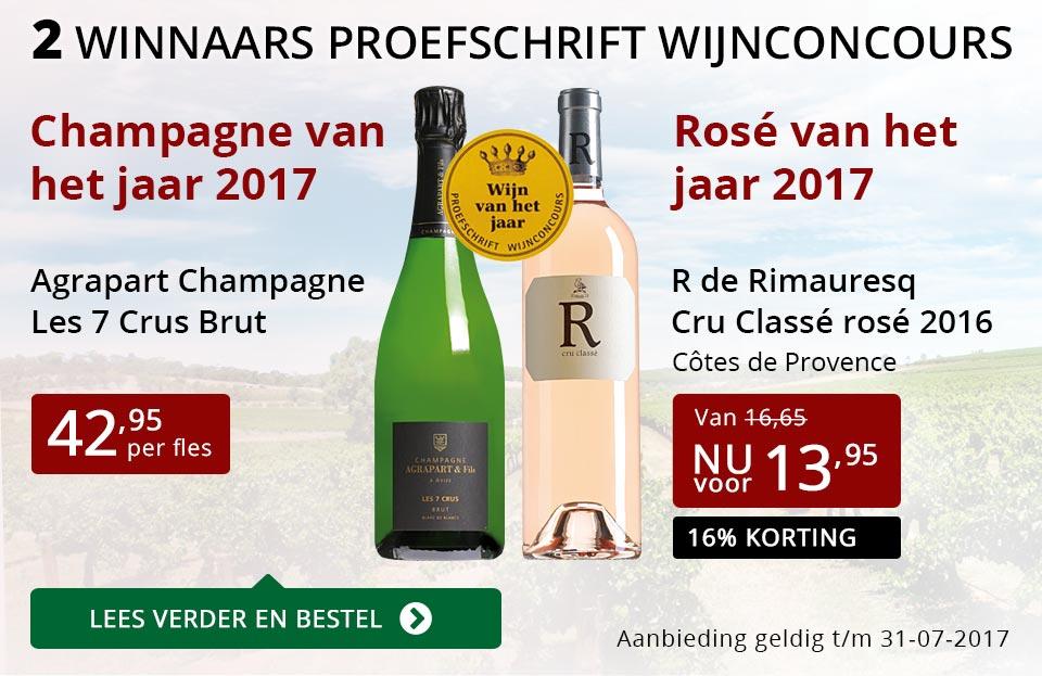 Proefschrift Wijnconcours: 2 winnaars - rood