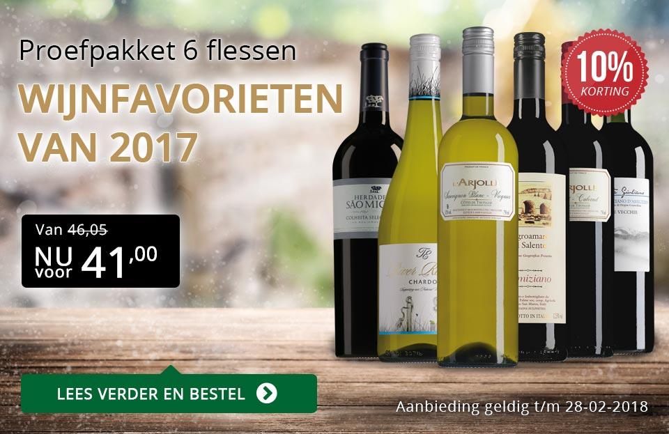 Proefpakket wijnfavorieten 2017 - goud/zwart