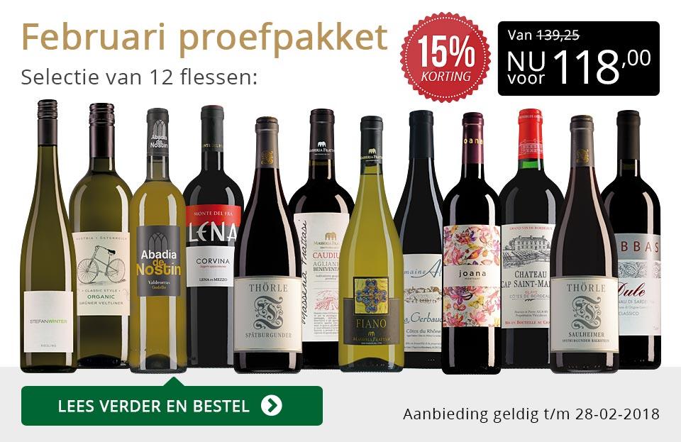 Proefpakket wijnbericht februari 2018 (118,00) - goud/zwart