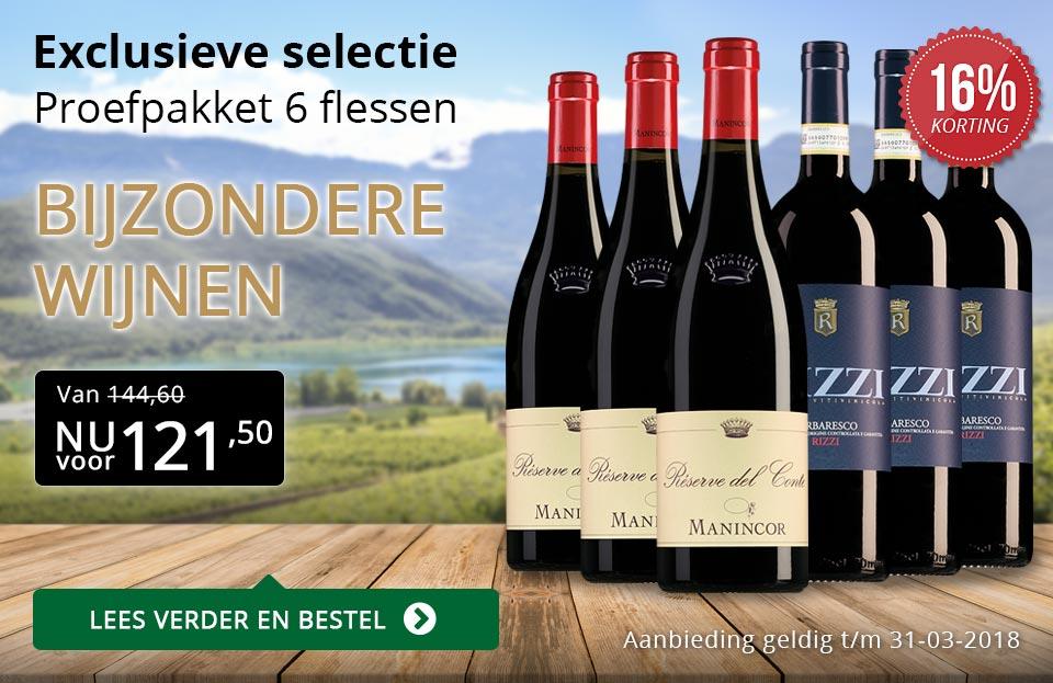 Proefpakket bijzondere wijnen maart 2018 (121,50) - goud/zwart