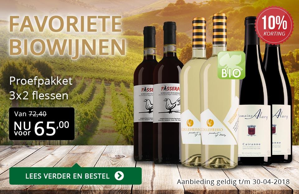 Proefpakket favoriete biowijnen - goud/zwart