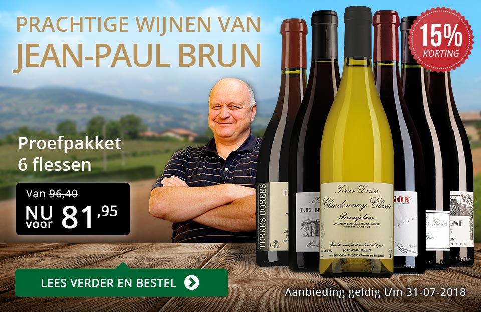 Jean-Paul Brun prachtige wijnen (81,95) - goud/zwart