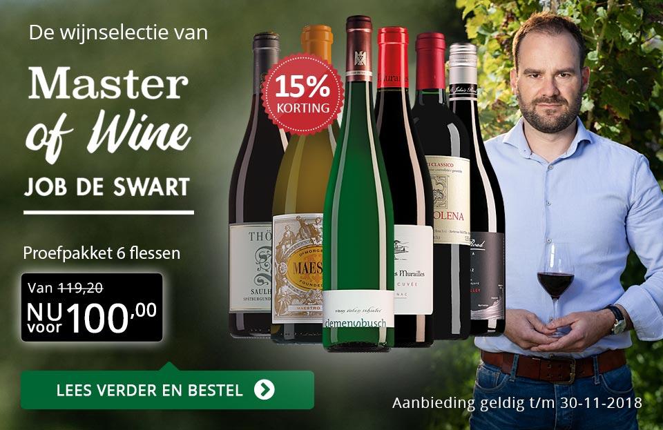 Proefpakket Master of Wine selectie (100,00) - goud/zwart