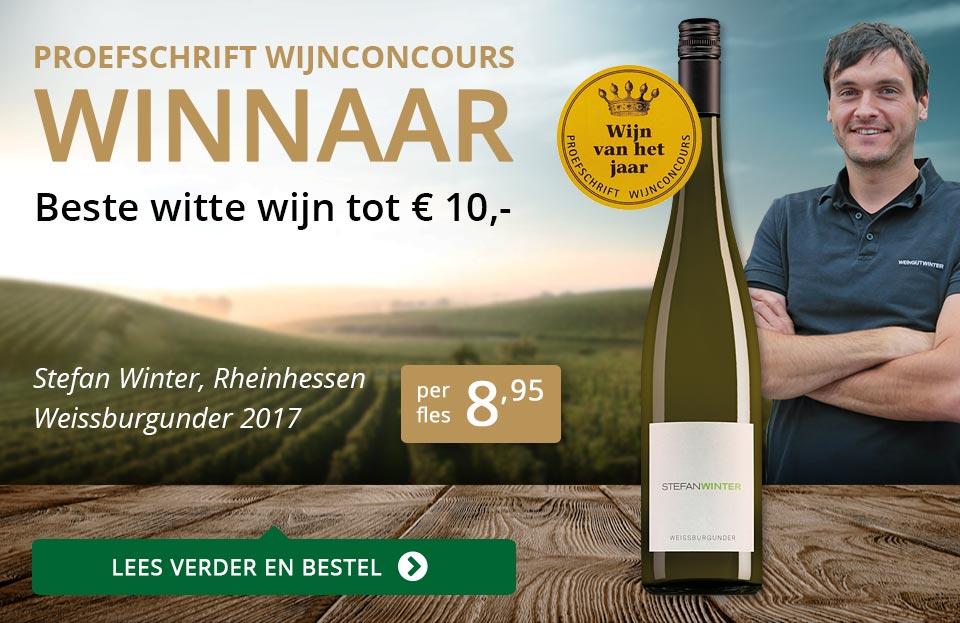 Proefschrift Wijnconcours 2018: Stefan Winter - goud/zwart