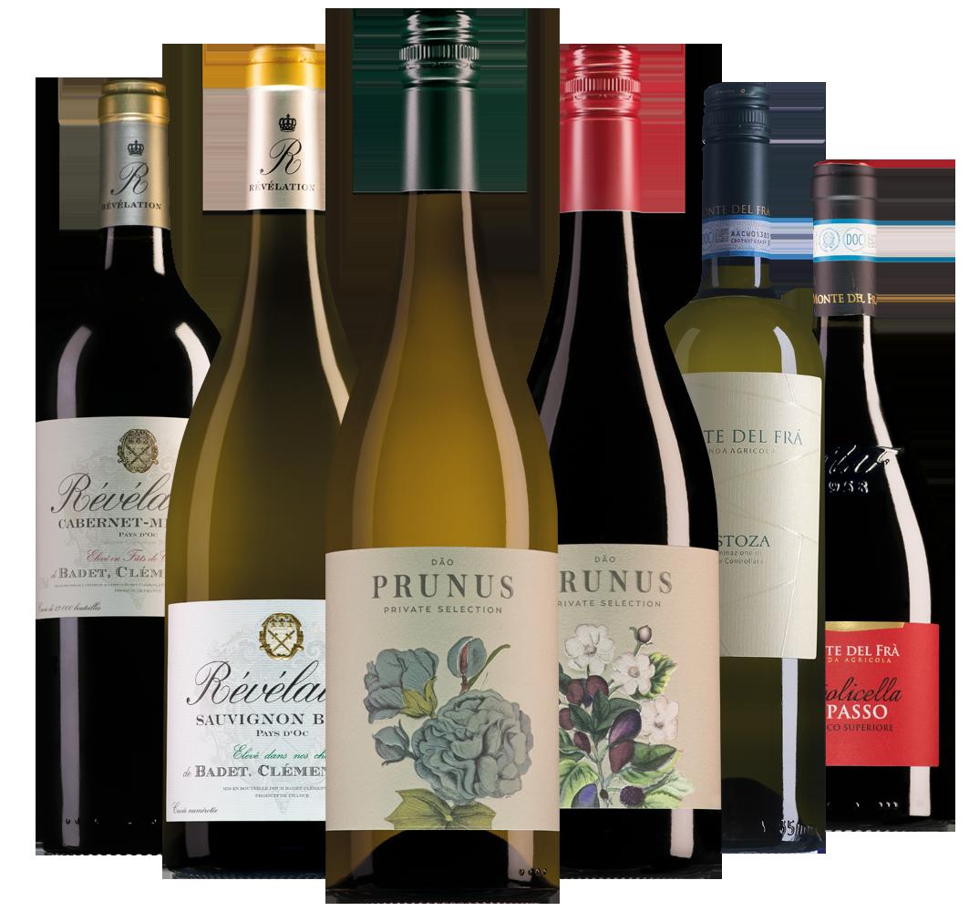 Wijnpakket bestsellers 2018 (6 flessen)