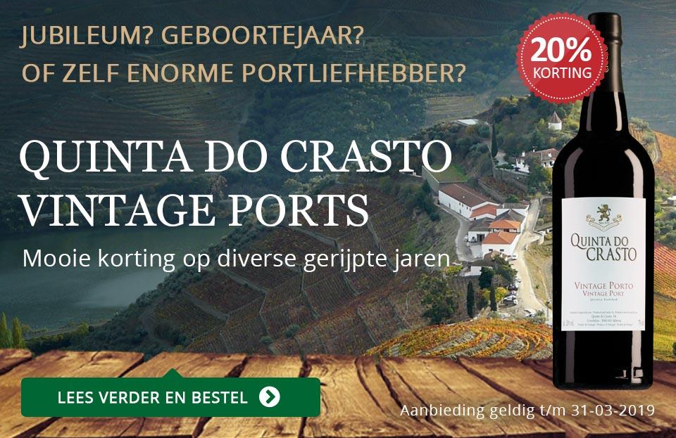 Quinta do Crasto Vintage Port met korting - goud/zwart