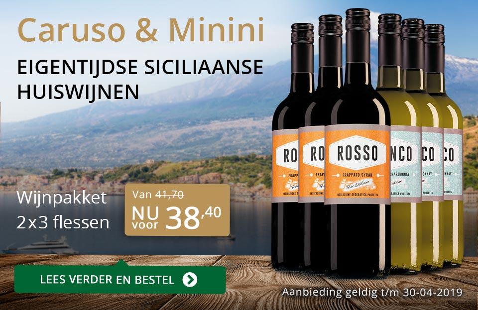 Wijnpakket Caruso & Mininiapril 2019 (38,40)- goud/zwart