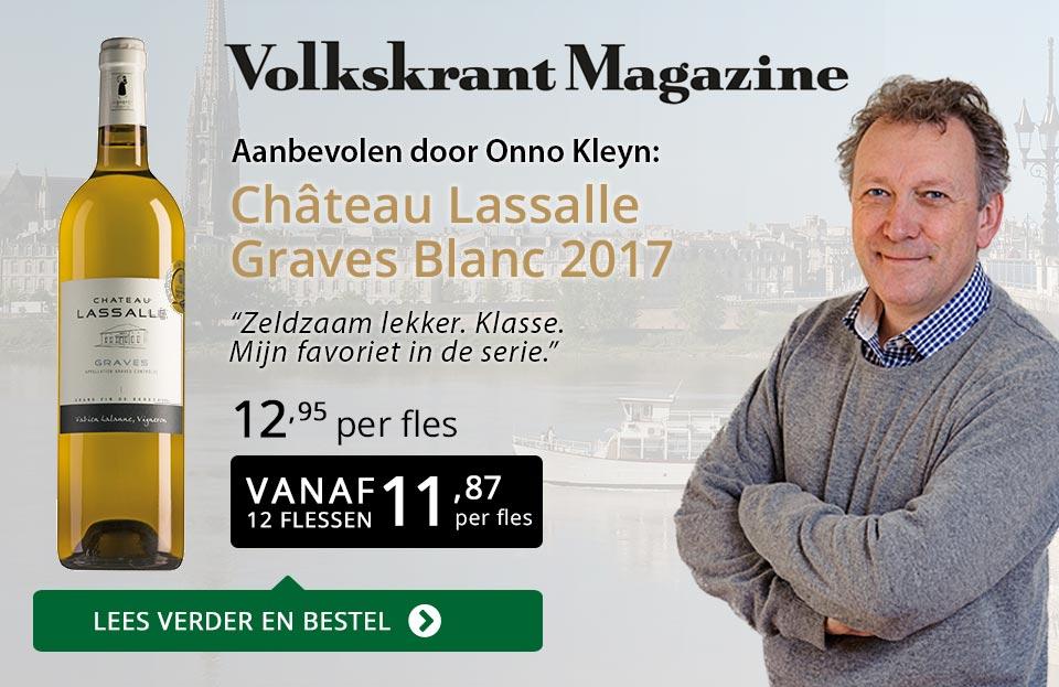 Volkskrant Magazine Château Lasalle Graves Blanc 2017 - Goud/Zwart