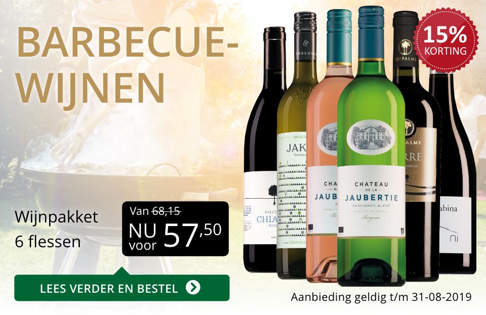 Wijnspecial Wijnpakket barbecuewijnen (57,50) - goud/zwart