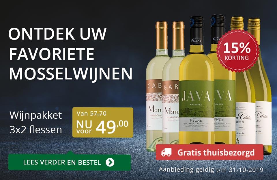 Dia Wijn en mosselen (gratis thuisbezorgd)