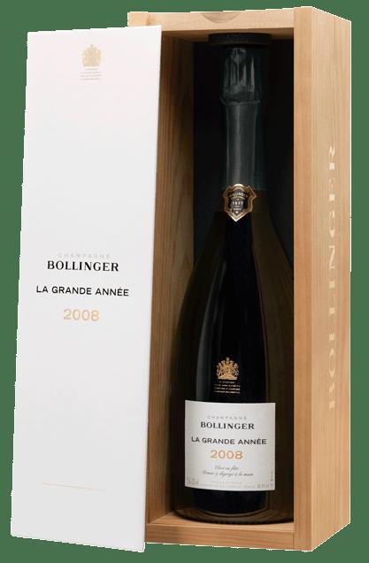 Bollinger Champagne La Grande Année Brut in luxe houten kist