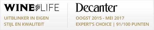 Twee referenties van Winelife en Decanter